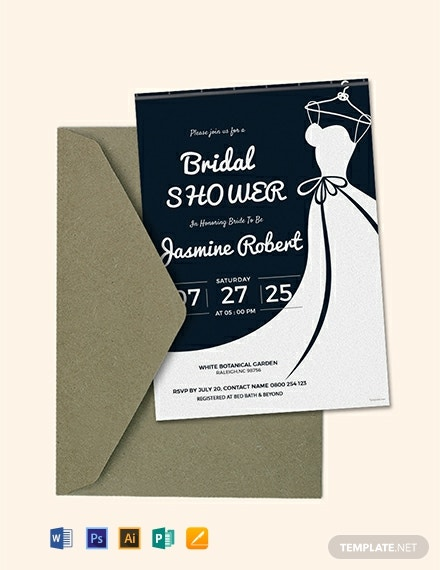 photograph regarding Bridal Shower Invitations Printable known as No cost Printable Bridal Shower Invitation Template - Term