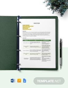 One Page Construction Sales Plan Template