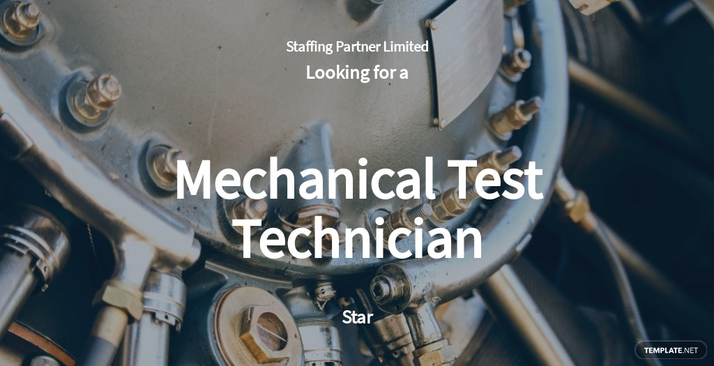 Mechanical Test Technician Job Ad and Description Template