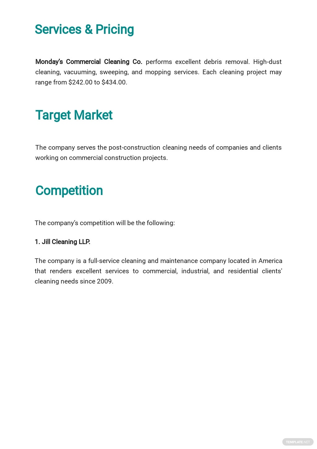 Post Construction Cleaning Business Plan Template 2.jpe