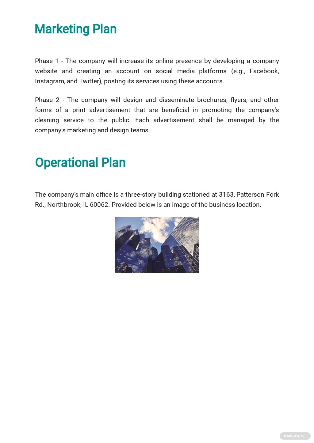 Post Construction Cleaning Business Plan Template 4.jpe