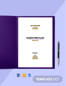 Construction Social Media Marketing Plan Template