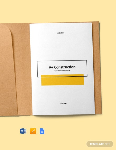 Construction Email Marketing Plan Template