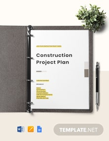 Construction Project Risk Management Plan Template