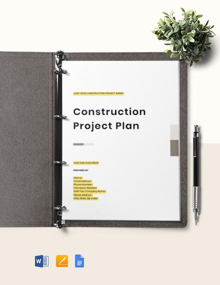 Construction Project Risk Management Plan Template