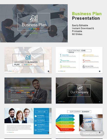 Free Business Plan Presentation Template