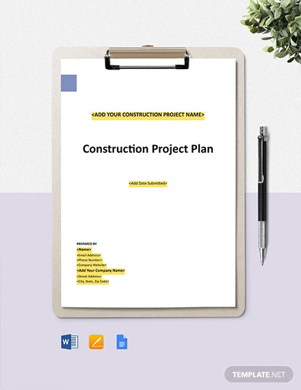 Construction Project Safety Management Plan Template Word Apple Pages Google Docs