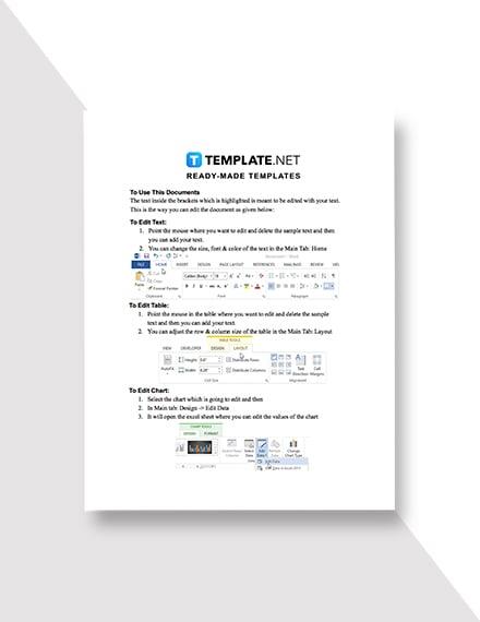 Property Market Analysis Template Instruction
