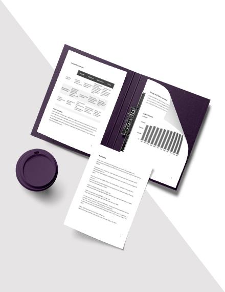 Property Market Analysis Template layout