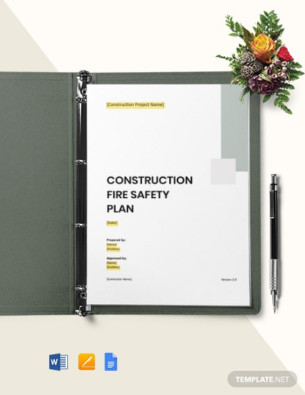 Fire safety plan for construction site