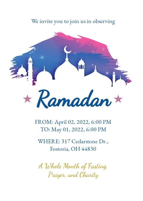 Ramadan Invitation Template