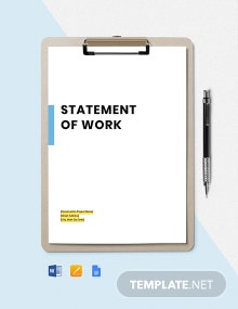 Construction Statement of Work Template