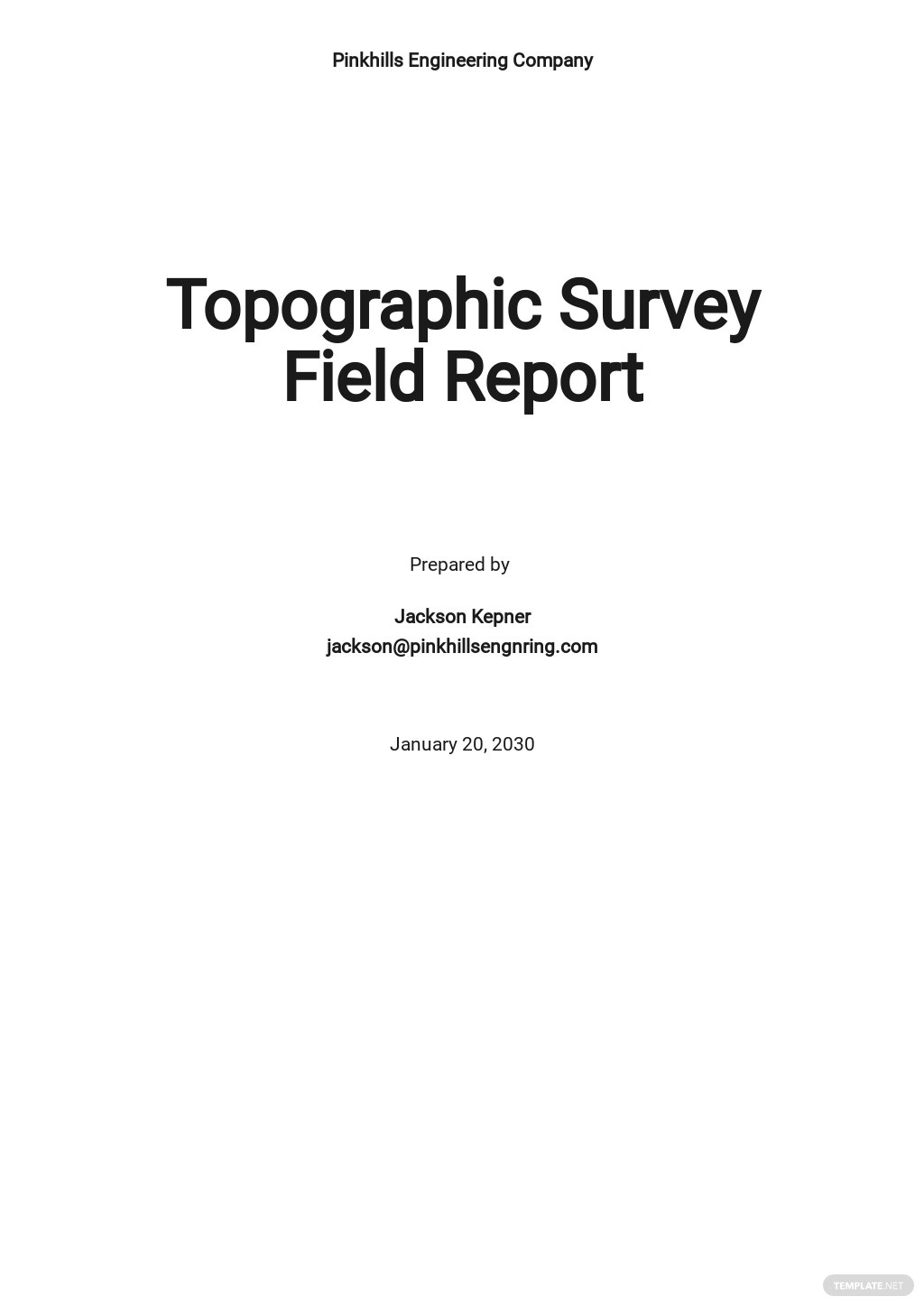 Construction Field Report Template