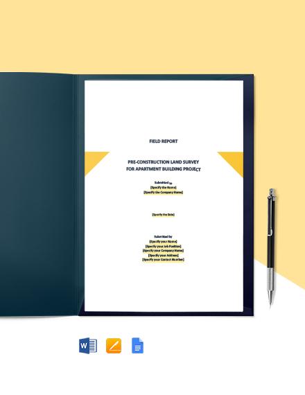 13 free construction report templates pdf word doc. Black Bedroom Furniture Sets. Home Design Ideas