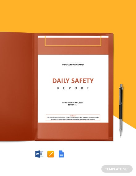Construction Safety Daily Report