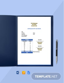Construction Petty Cash Return Template