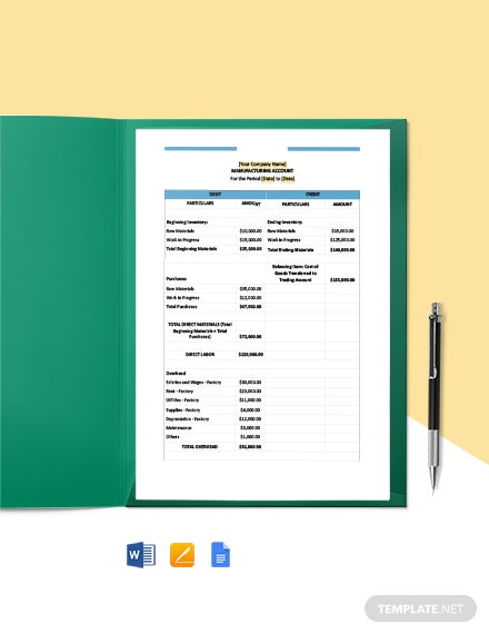 Construction Statement of Final Account Template