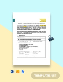 Construction Transfer Permit Template