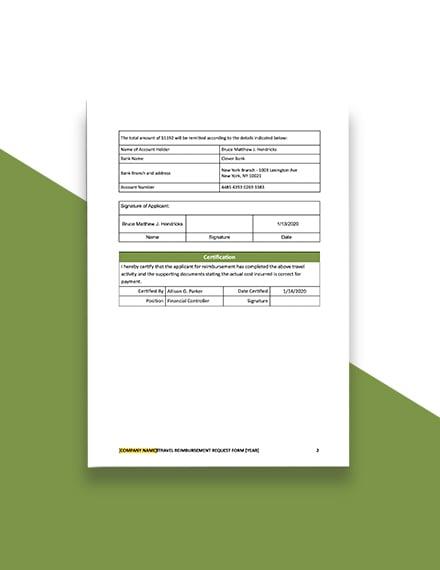 Construction Flight Ticket Reimbursement Request Form Template  - Google Docs, Word, Apple Pages