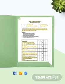 Construction Performance Review Template