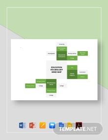 Education Vocabulary Mind Map Template
