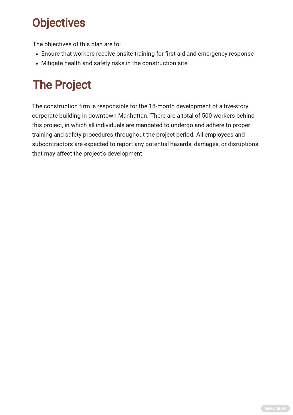 Free Sample Construction Phase Plan Template 1.jpe