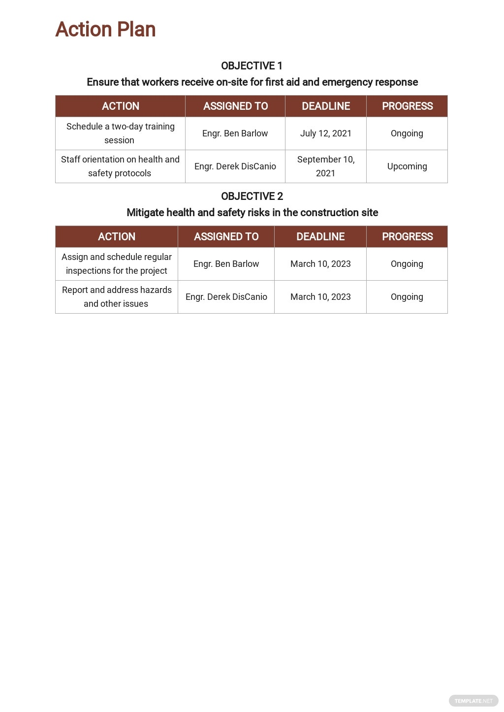 Free Sample Construction Phase Plan Template 3.jpe