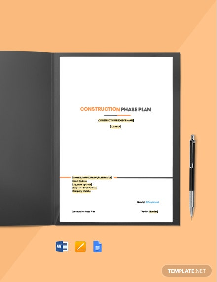 Free Blank Construction Phase Plan Template