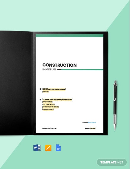 Free Basic Construction Phase Plan Template
