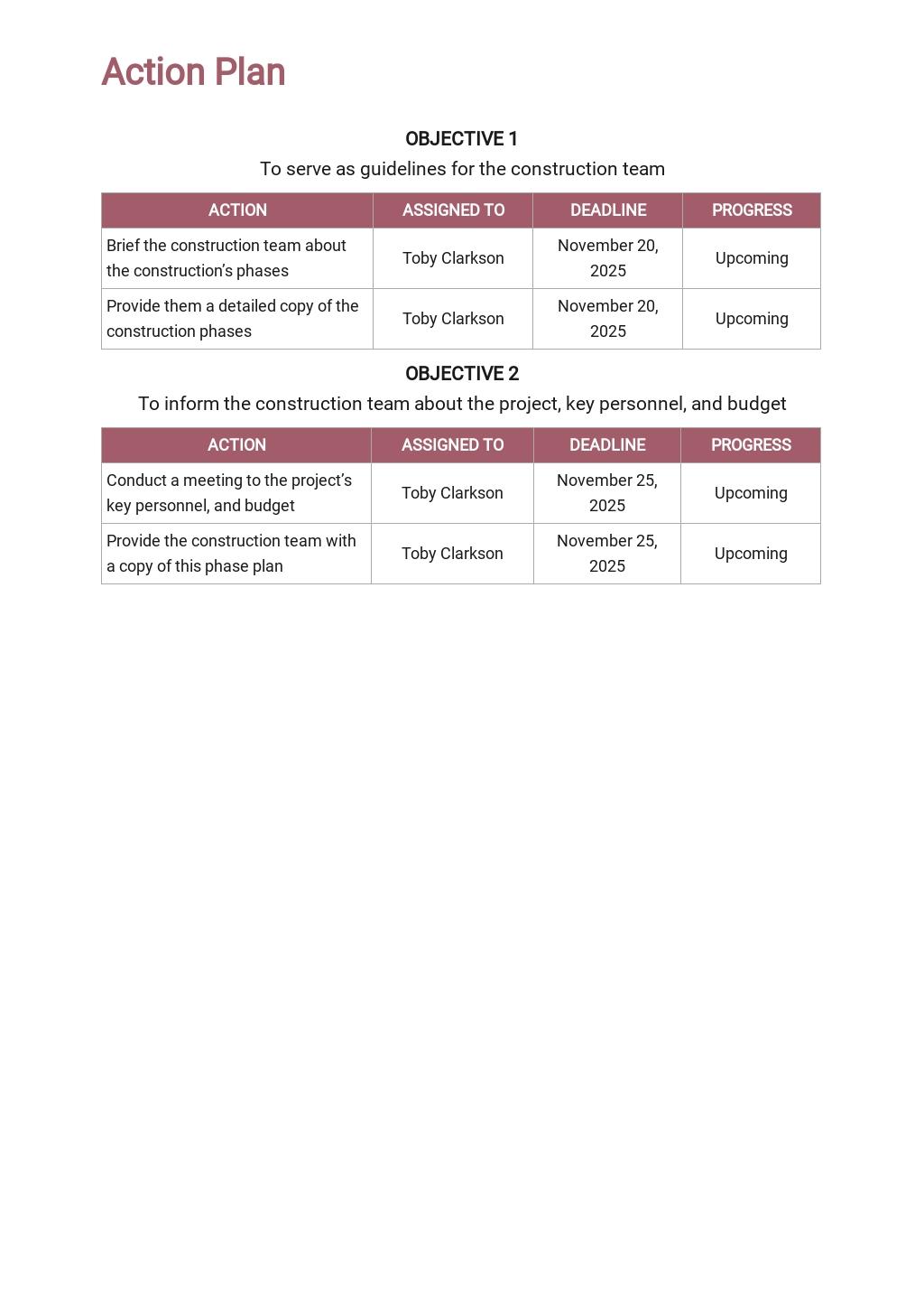 Free Basic Construction Phase Plan Template 3.jpe