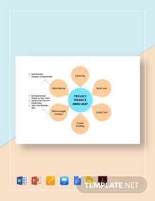 Project Finance Mind Map Template