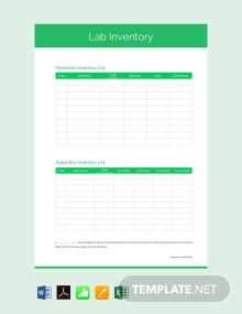 Free Lab Inventory Template