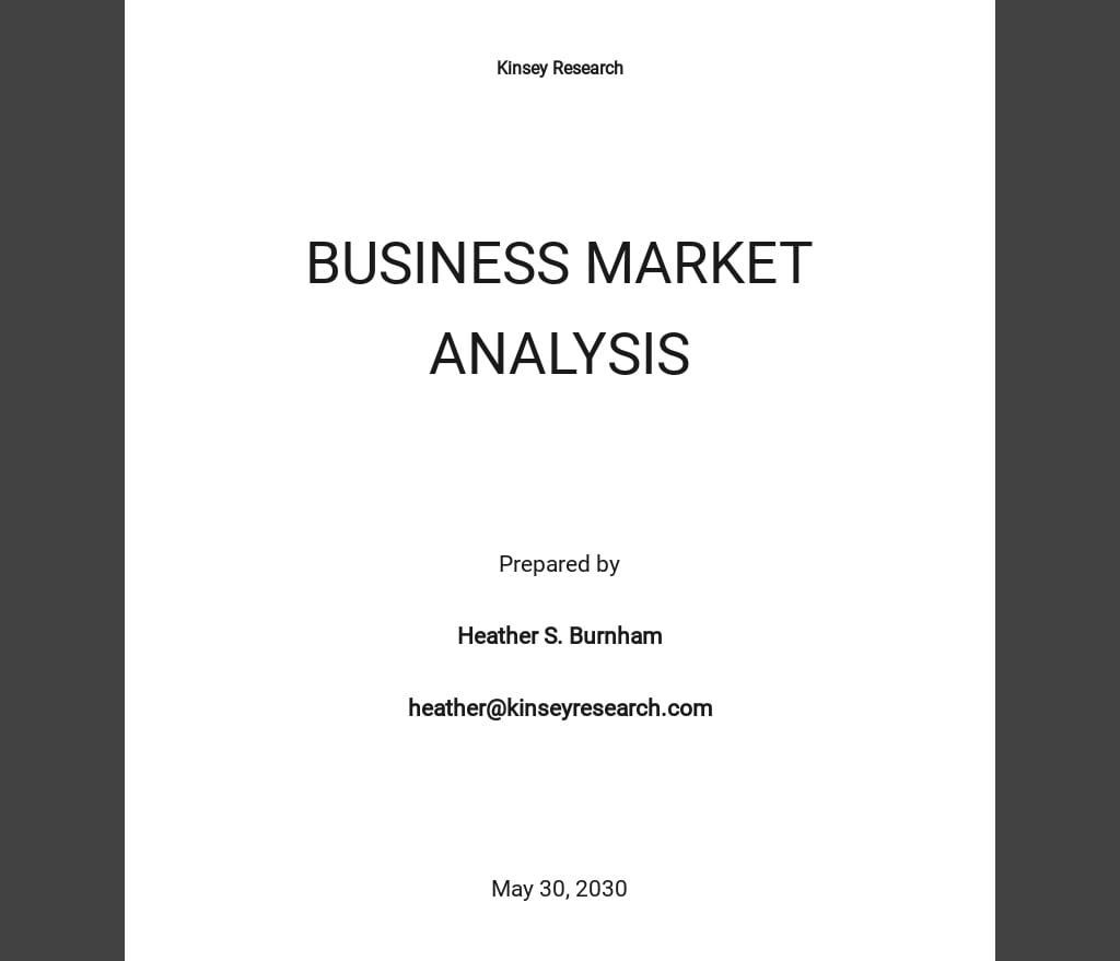 Business Market Analysis Template