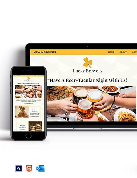 Lucky Brewery Newsletter Template