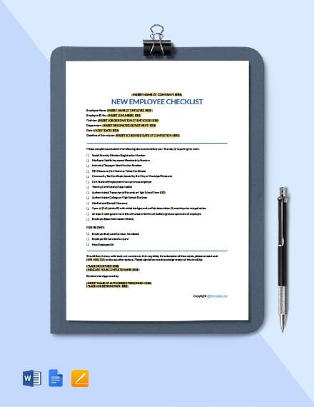 Simple New Employee Checklist