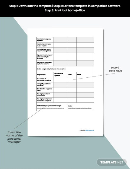 Sample Employee Checklist Template download