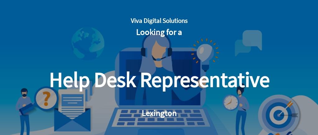 Help Desk Representative Job Ad/Description Template