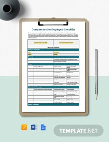 Comprehensive New Employee Checklist Template