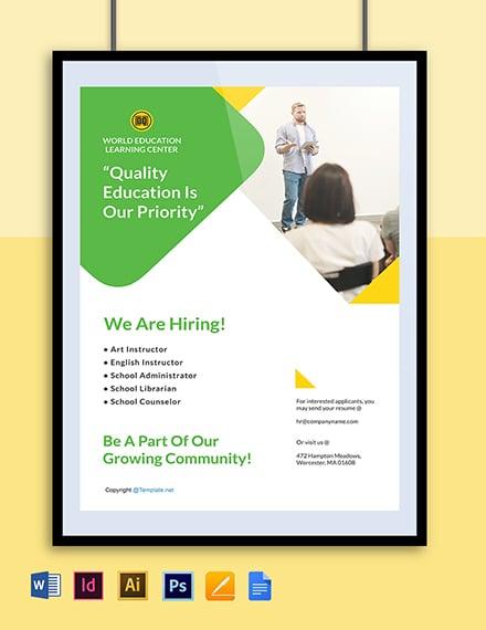 Free Elegant HR Poster Template