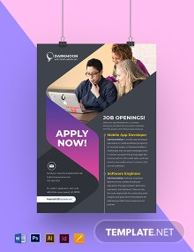 Free Simple HR Poster Template