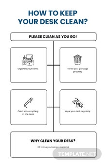 Clean Desk Policy Poster Template