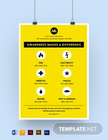 Emergency Contact Details Poster Template