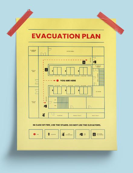Building evacution plan Poster Template