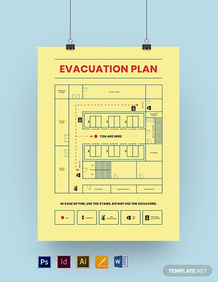 Building Evacuation Plan Poster Template
