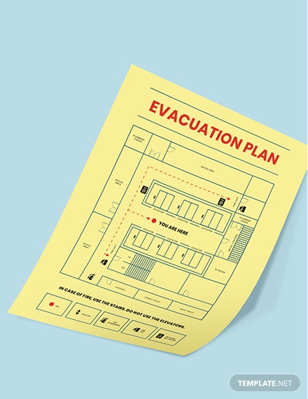 Printable Building evacution plan Poster