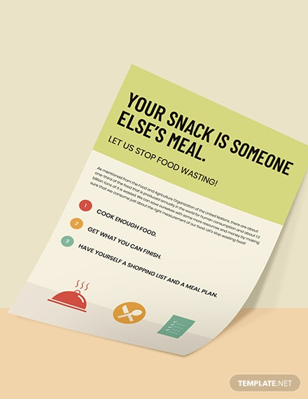 Prevention of food wastage Poster Editable