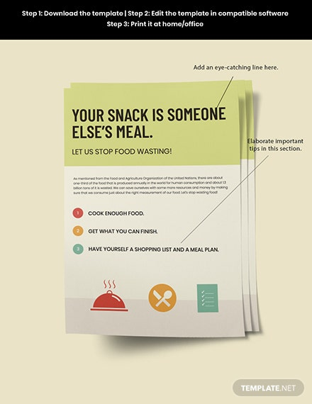 Prevention of food wastage Poster sample