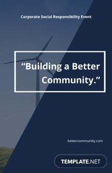 Corporate Social Responsibility Poster Template