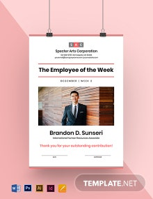 Best Employee of the Week Poster Template
