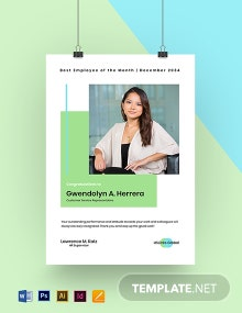 Best Employee of the Month Poster Template